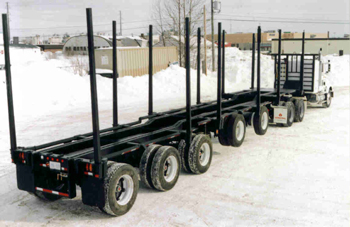 LBC Double Drop Deck Logging Trailer